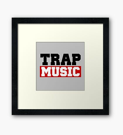 TRAP MUSIC - BASS PARTY Framed Print
