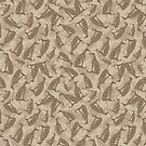 Greyhound Camo - Soft Neutral by lottibrown