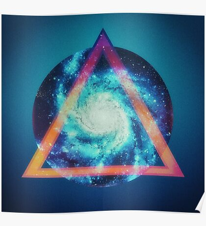 Space galaxy - triangle Poster
