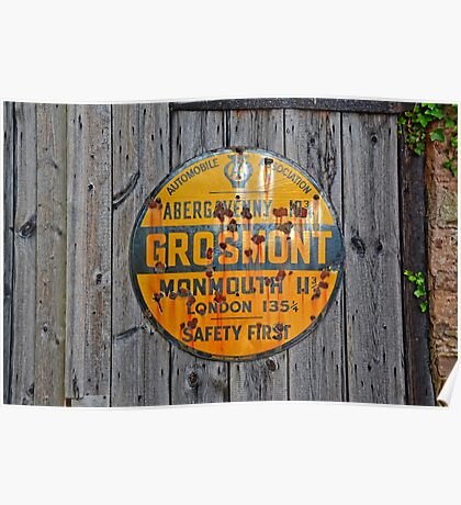 Old Grosmont Wales, Automobile Billboard, enamelled   Poster