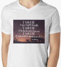 I Write Mens V-Neck T-Shirt