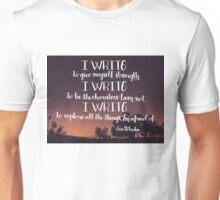 I Write Unisex T-Shirt
