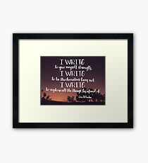 I Write Framed Print