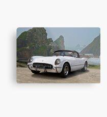 1953 Chevrolet Classic Corvette Roadster Metal Print