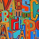 Colourful Alphabet Wall Arts by Remo Kurka