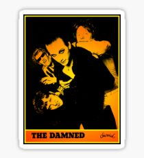 The Damned - Machine Gun Etiquette Flyer Sticker