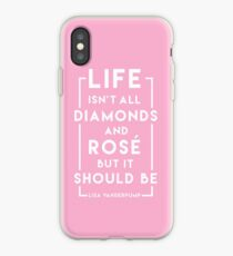 Life isn't all diamonds and rosé but it should be - PINK EDITION iPhone Case