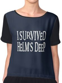 I Survived Helm's Deep Chiffon Top