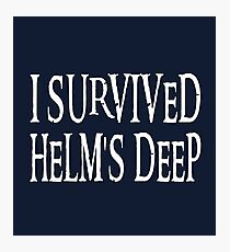 I Survived Helm's Deep Photographic Print
