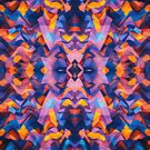 Abstract Surreal Chaos theory in Modern Blue / Orange by badbugs
