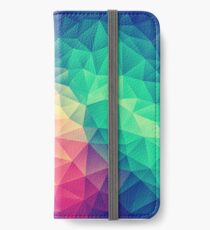 Abstract Polygon Multi Color Cubism Low Poly Triangle Design iPhone Wallet/Case/Skin
