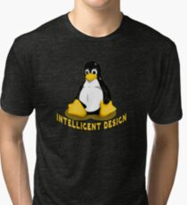 Linux Penguin Intelligent Design Tri-blend T-Shirt