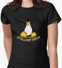 Linux Penguin Intelligent Design Women's Fitted T-Shirt