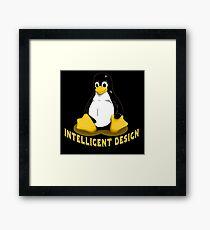 Linux Penguin Intelligent Design Framed Print