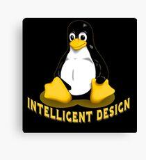 Linux Penguin Intelligent Design Canvas Print