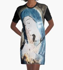 Mother Mary Comes to Me Graphic T-Shirt Dress