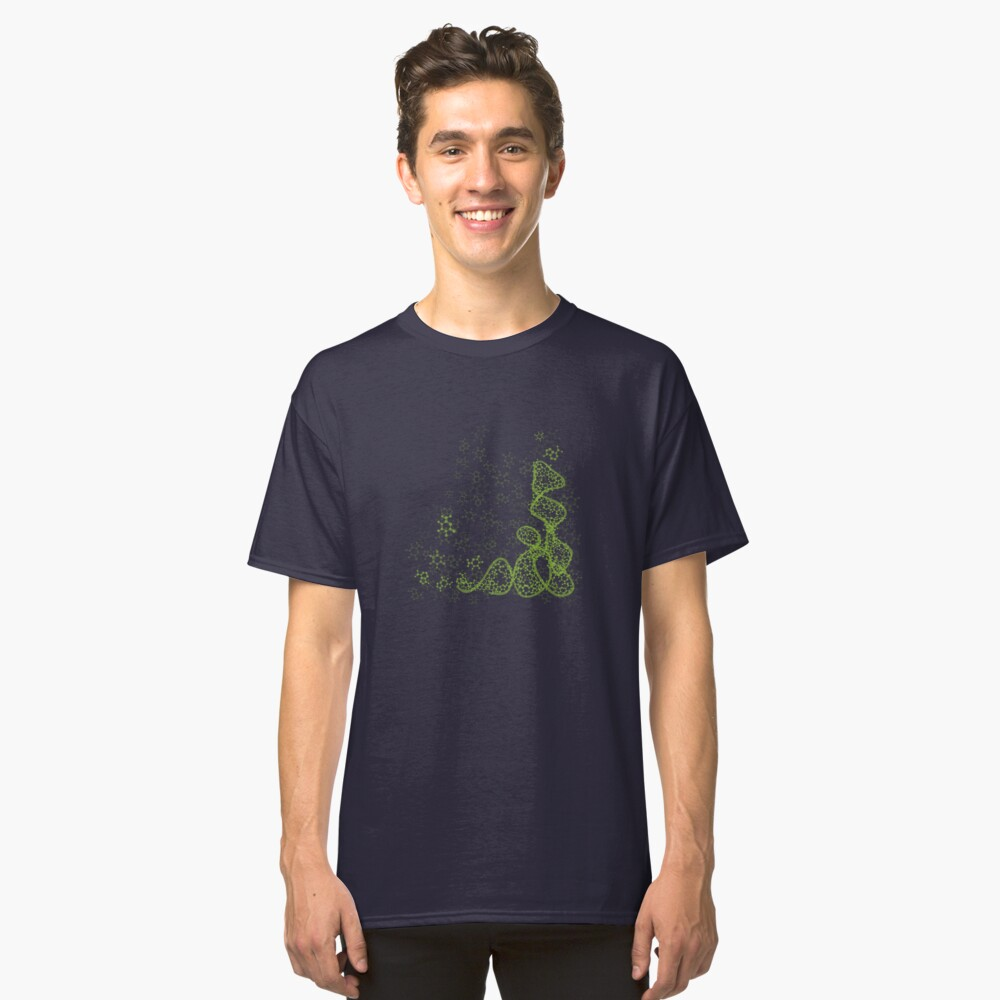 tRNA (transfer RNA) structure - bright green Classic T-Shirt