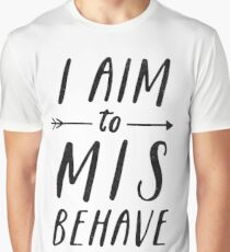 Aim To Misbehave | White Graphic T-Shirt