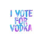 I love vodka college party sticker by linnnna