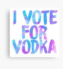 Ich liebe Wodka College Party Aufkleber Leinwanddruck