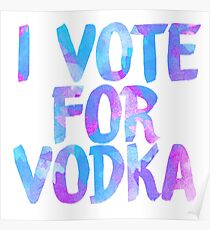I love vodka college party sticker Poster