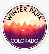 WINTER PARK COLORADO Ski Skiing Mountain Mountains Skiing Skis Silhouette Snowboard Snowboarding 2 Sticker