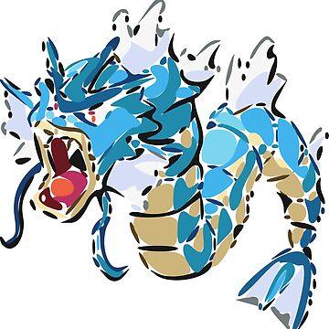 Pokemon: Gyarados (Vectorized) by muramas