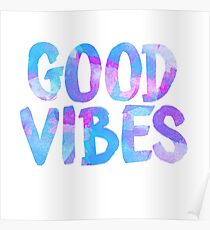 Good vibes laptop sticker free spirit trendy  Poster