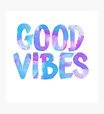Good vibes laptop sticker free spirit trendy  Photographic Print