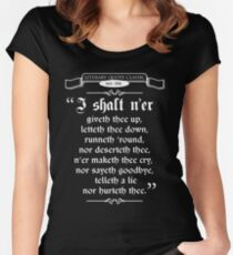 Thou Hast Been Rick Rolled Women's Fitted Scoop T-Shirt