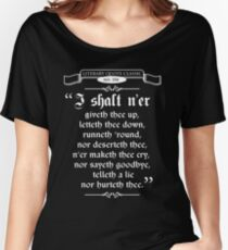 Thou Hast Been Rick Rolled Women's Relaxed Fit T-Shirt