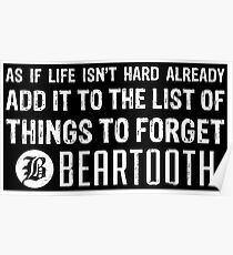 Beartooth Lyrics Poster