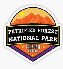 PETRIFIED FOREST NATIONAL PARK ARIZONA MOUNTAINS HIKING CAMPING HIKE CAMP 1962 2 Sticker