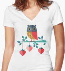 Owl Always Love You Women's Fitted V-Neck T-Shirt