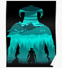 Dragonborn Silhouette Poster