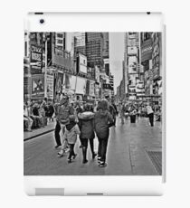 People in Times Square, New York City in B&W iPad Case/Skin