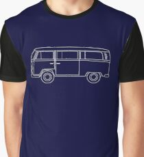 VW T2 Bus Blueprint Graphic T-Shirt