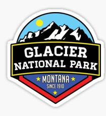 GLACIER NATIONAL PARK MONTANA HIKING CAMPING HIKE CAMP 1910 Sticker