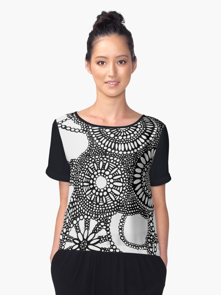 abstract Women's Chiffon Top Front