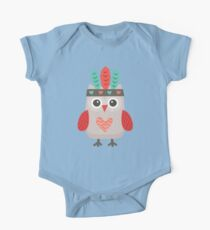 Hipster Owlet Mint v2 One Piece - Short Sleeve