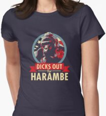 Hail to the Chimp (Dicks out for Harambe) Women's Fitted T-Shirt