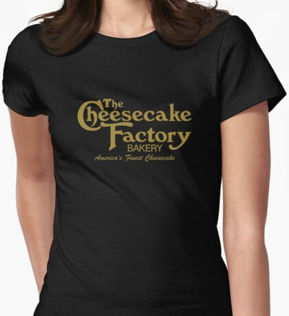 The Cheesecake Factory - Gold Bakery Variant Womens Fitted T-Shirt