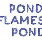 Pond, Flames Pond by ineslira