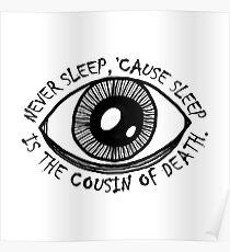 Póster Nunca dormir el ojo