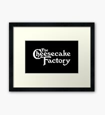 The Cheesecake Factory - White Variant Framed Print