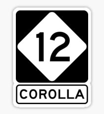 NC 12 - Corolla  Sticker