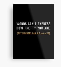 Words Can't Express Metal Print