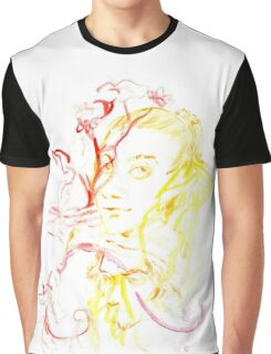 yellow faces, red flowers Graphic T-Shirt