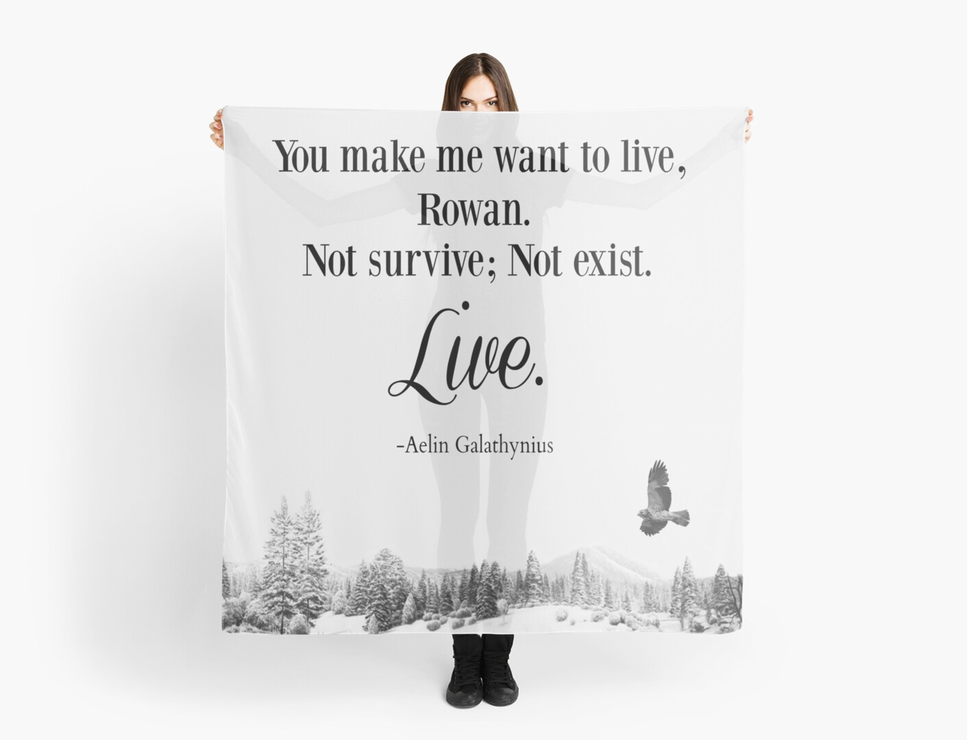 Queen Of Shadows By Sarah J Maas Quote Scarf By Sarahalexis Redbubble
