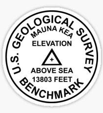 Mauna Kea, Hawaii USGS Style Benchmark Sticker